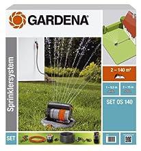 Gardena 8221-20 - Set completo de sistema de aspersor cuadrado emergente OS 140 sistema de riego para superficies cuadradas y rectangulares hasta maximo 140 m², montaje a ras de suelo