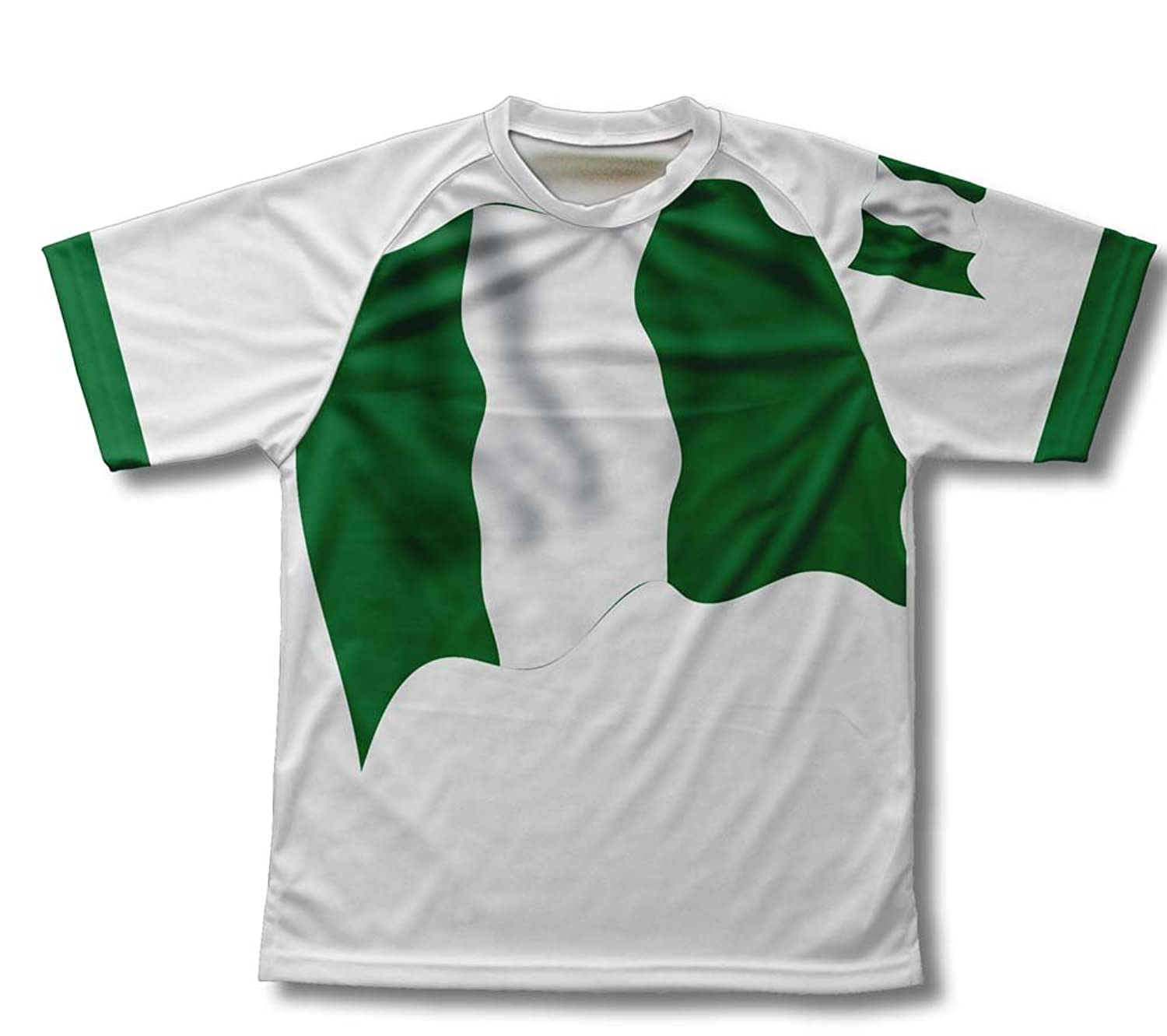 Nigeria Flag Technical T-Shirt for Men and Women