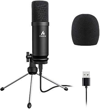 Amazon.com: Micrófono USB 192KHZ/24BIT MAONO AU-A04TR ...