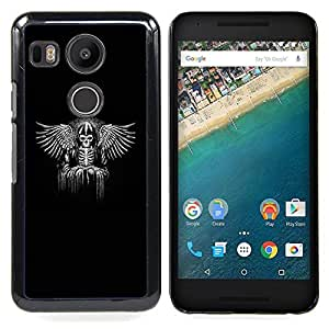 - Black Wings King Throne White Angel - - Snap-On Rugged Hard Cover Case Funny HouseFOR LG Google Nexus 5X