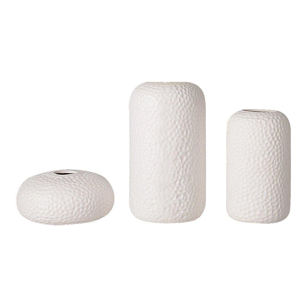 Anding Ceramic White Vase set/Wedding Vase/Modern Vase/Simple Desktop Center Vase - Flower Pot - Ideal Gift For Friends And Family (3129 suit 3)