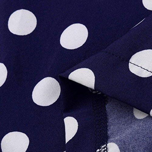 Tops Blouse Manches Courtes T Combinaisons Shirt Femme Hors Marine T Imprim Longues Paules Dot Lolittas Marine Femmes xpYXvU6xqw