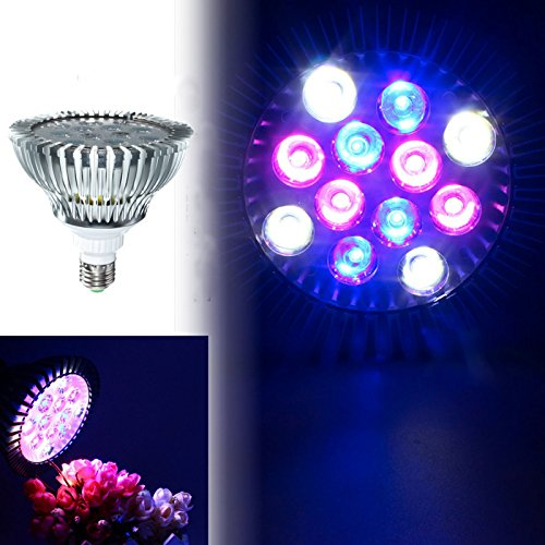 HITSAN 12W E27 PAR38 LED Full Spectrum Coral Reef Plant Grow Light Fish Tank Aquarium One Piece