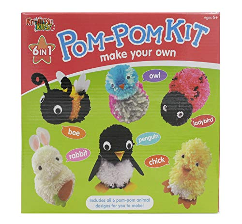 Kreative Kids DIY Make Your Own 6 in 1 Animal Pom Pom Kit