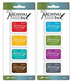 Wendy Vecchi Mini Archival Ink Pads - 2 Item Bundle - Sets No. 1 and 2