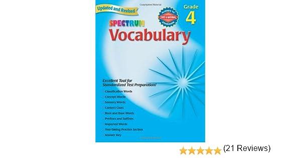 Amazon.com: Spectrum Vocabulary, Grade 4 (9780769680842): School ...