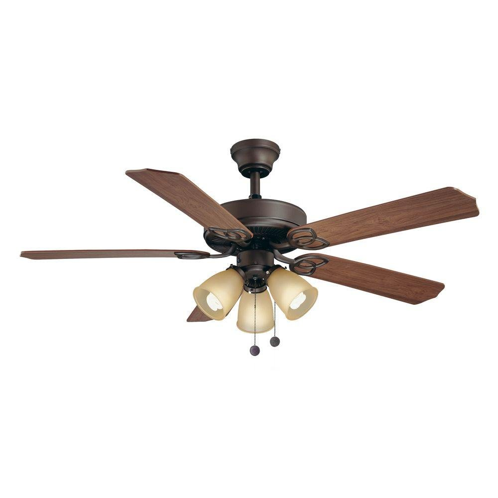 Wood Ceiling Fan With Light Part - 31: Hampton Bay Brookhurst 52 In. Indoor Oil Rubbed Bronze Ceiling Fan - -  Amazon.com