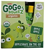 Materne GoGo Squeez? Organic Applesauce On The Go Apple Apple -- 4 Pouches - 2 pc