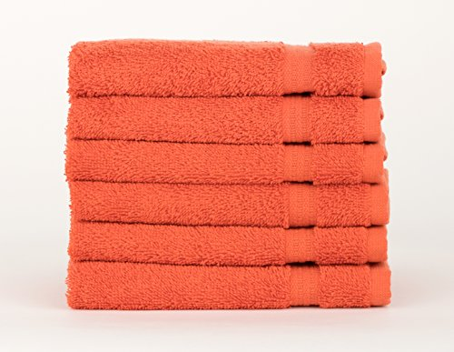 TowelSelections Sunshine Collection Soft Towels 100% Turkish Cotton 6 Washcloths - Collection Ginger
