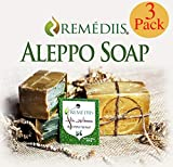 Remédiis Aleppo Soap Bar (3 Pack) 100% Vegan Handmade
