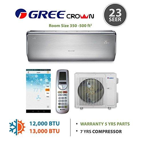 GREE Crown 12,000 BTU Ductless Mini Split Heat Pump System -