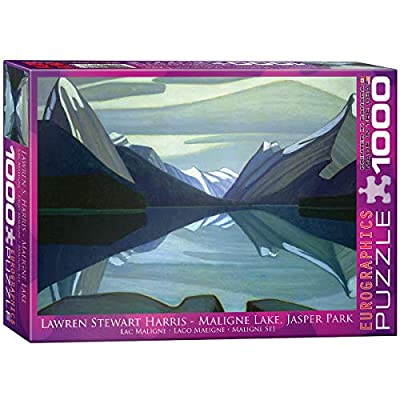 EuroGraphics Maligne Lake, Jasper Park by Lawren Harris 1000 Piece Puzzle: Toys & Games