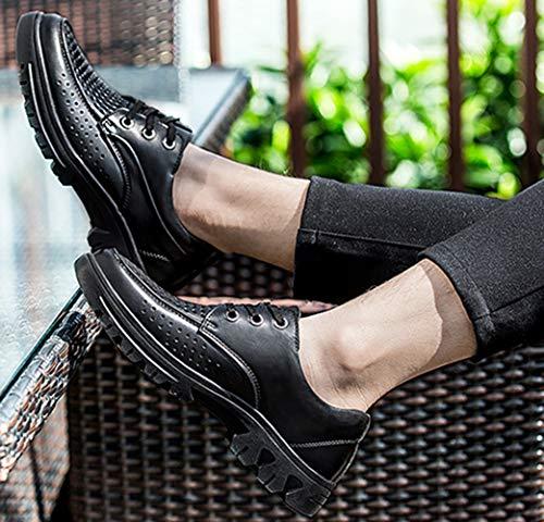 Pelle Scarpe Dimensioni In Derby Black Casual Scarpe Da Di Casual Traspiranti MYXUA Per Grandi Uomo wOFqXgaT