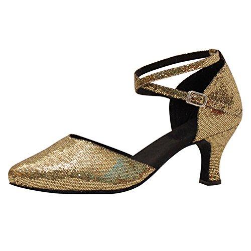 Dance Tango Danse YFF Cadeaux 6CM Danse Dance 41 Femmes Golden Latine Chaussures 0EUwg7