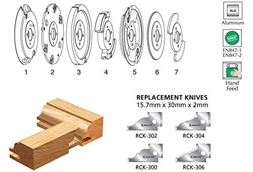 Amana Tool 61782 Insert Carbide Aluminum Raised Panel 118mm D x 6mm CH Shaper Cutter
