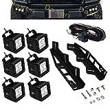 Dasen For Ford Raptor 2017-2019 6x 18W LED Cube Light Pod w/Front Hidden Bumper Fog light Foglamp Mounting Brackets