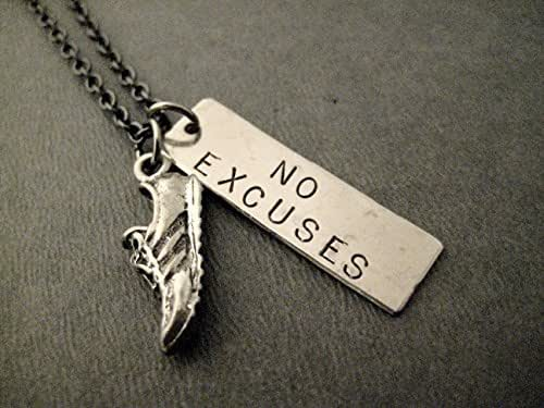 Amazon.com: RUN with NO EXCUSES Dog Tag Style Necklace