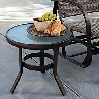 amazon com coral coast del rey 20 in patio side table patio end rh amazon com lowes outdoor patio side tables outdoor patio side table wicker