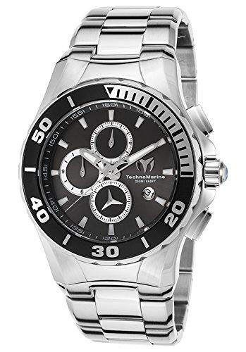 Technomarine Tm-215043 Men's Sea Manta Chrono Ss And Case Black Dial Watch