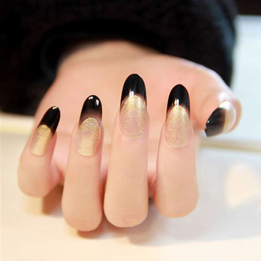AORAEM Oval Nails Tips Clear Long Full Cover Acrylic False Nails 500 ...