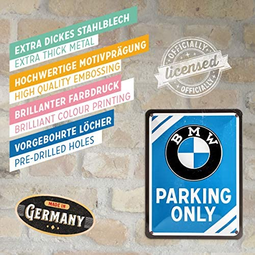 Bmw Parking Only Small Metal Sign 200mm X 150mm Na Auto