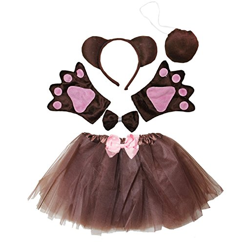 Kirei Sui Kids Costume Tutu Set Brown Bear]()