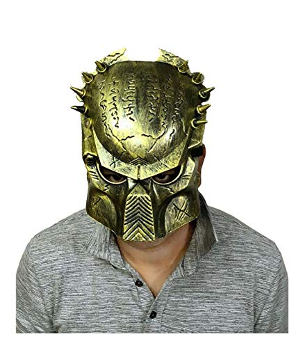 MA ONLINE Unisex Fancy Predator Scary Face Mask Adults Halloween Dress Party Supplies One Size]()