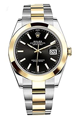 Rolex Datejust 41 Stainless Steel & 18K Yellow Gold Oyster Watch Black Dial 126303 by Rolex