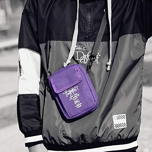 Color La De De Los De HEQC Purple Personalidad Hombres Manera Portátiles Múltiple Mensajero Red De Bolsos Libre Mochilas Al Aire Bolso La UqZgI