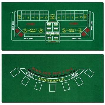 Brybelly Blackjack And Craps Table Felt, 72u0026quot; ...