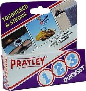 Pratley 1-2-3 Adhesive, Excellent on Aluminum - Quick Setting 2 PACK