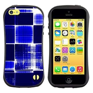 Paccase / Suave TPU GEL Caso Carcasa de Protección Funda para - Pattern Checkered Blue White Bright Bling - Apple Iphone 5C