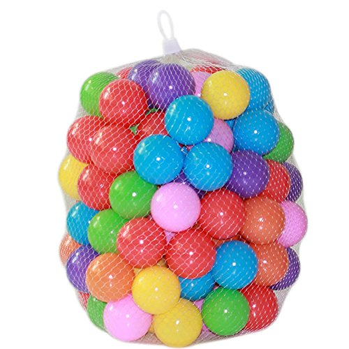 Trista99 Non-toxic Phthalate-free Colorful Soft Plastic Ball Pit Balls Baby Kids Tent Swim Toys Ball Pool Ball Ocean Ball (50PCS, 5.5cm) (Non Toxic Pen For Baby)