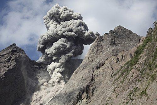 Posterazzi November 28 2012-Dense Grey ash Cloud from Powerful Explosive strombolian Eruption Rising from Active Crater of Batu Tara Volcano Komba Island Indonesia. Poster Print (17 x 11)