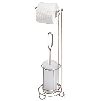 Attraktiv MetroDecor MDesign Toilettenpapierhalter Mit Toilettenbürste Ohne Bohren U2013  Freistehender Klorollenständer Mit Integrierter Klobürste U2013 2