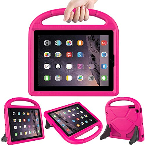 [해외]LEDNICEKER Kids Case for iPad 2 3 4 - Light Weight Shock Proof Handle Friendly Convertible Stand Kids Case for iPad 2 iPad 3rd Generation iPad 4th Gen Tablet - MagentaRose / LEDNICEKER Kids Case for iPad 2 3 4 - Light Weight Shock ...