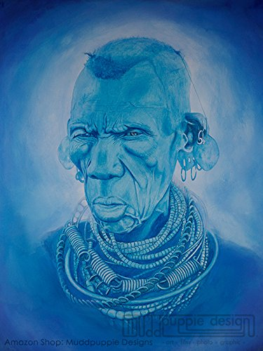 Blue Africa by Muddpuppie Designs
