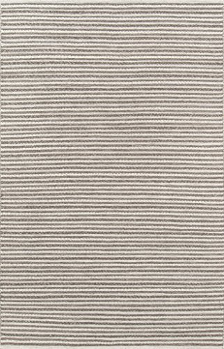(Momeni Rugs MESA0MES-3NAT5080 Mesa Collection, 100% Wool Hand Woven Flatweave Transitional Area Rug, 5' x 8', Natural)