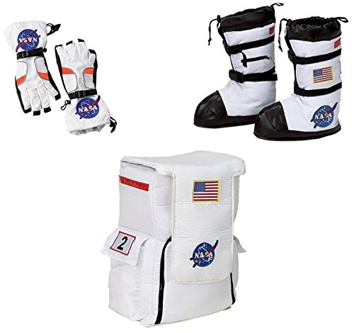 Wonder Clothing Big Boys' NASA Astronaut Boots Gloves and Backpack Costume Accessory Kit