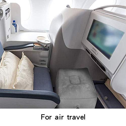 Gris Oscuro Reposapi/és Inflable de Tres Capas Reposapi/és Reposapi/és Inflable de Viaje Almohada Aviones Reposo Durmiendo Reposapi/és para pies