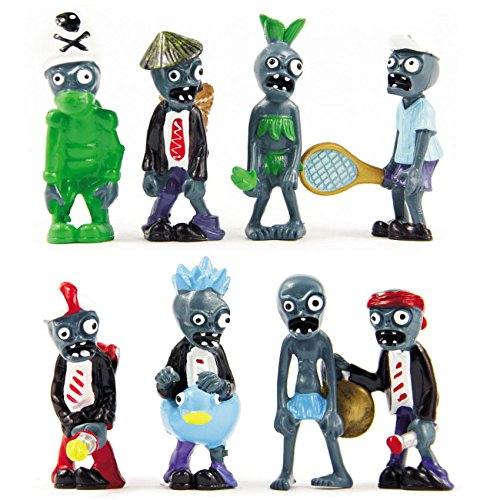 Homemade Hot Rod Costume (Shalleen Lot of 8 PCS Different Plants vs Zombies Anime Action Figures PVZ Hot Sale)