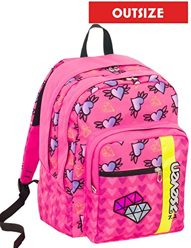 df75044816 Seven S.P.A. School backpack Outsize SEVEN - SHIFTY GIRL - Pink - 33 LT  rucksack -