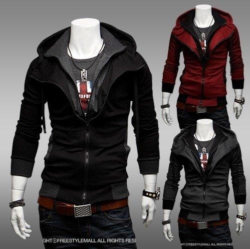 Gmmiao Men hoodies clothing supreme style skirt ymcmb sweatshirt cardigan sweatshirt thin outerwear Red L
