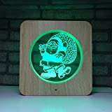 Candlestick Lamps Wood Grain Bedroom Decoration Touch Led Light 3D Creative Colorful Night Light Bed Head Decoration Light USB 7 Colorful Touch Art Deco Table Lamps