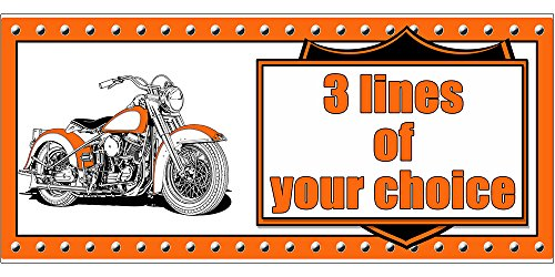 PERSONALIZED HAWG MOTORCYCLE BANNER (18