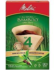 Melitta 625000 Bamboo Super Premium Coffee Filters, Green - 80 Count