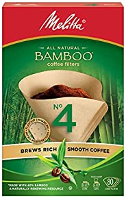 Melitta 625000 Bamboo Super Premium Coffee Filters, Green - 80 Count