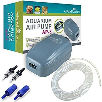 Todos Estanque Soluciones Acuario Tropical Bomba de Aire, 180 L/H caudal: Amazon.es: Productos para mascotas