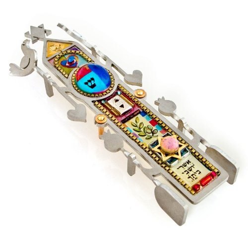Seeka Column of Blessing Mezuzah Curated by The Artazia Collection - M0161 by The Artazia Collection