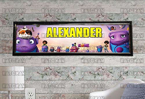 Customized Name Painting Dreamworks Home Movie Poster With Your Name On It Personalized Banner With Hard Frame